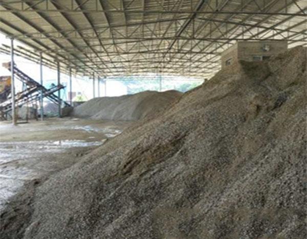 硫酸钡砂生产区